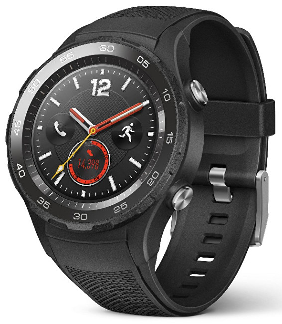 Huawei Watch W2 Carbon Black - SLEVA