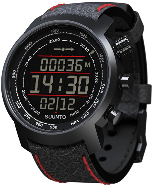 Suunto Elementum Terra N Black Red Leather - SLEVA