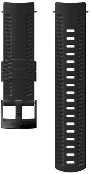 Suunto Silikonový řemínek k hodinkám Suunto 9 Baro černý s černou sponou