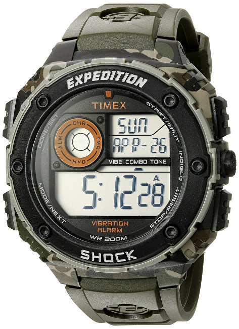 Timex EXPEDITION SHOCK XL VIBRATING ALARM T49981