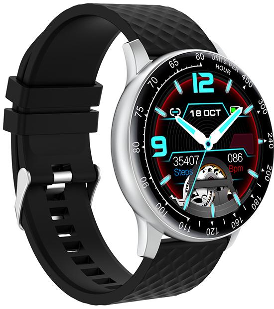 Wotchi W03S Smartwatch - Silver Black - SLEVA