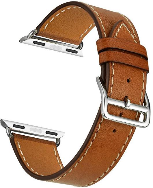 4wrist Kožený řemínek pro Apple Watch - Hnědý 42/44 mm