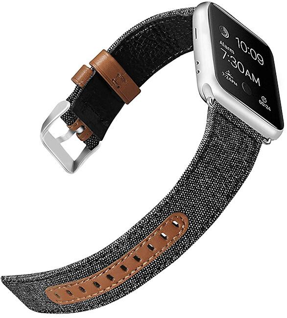 Wotchi Kůže + textil řemínek pro Apple Watch - 42/44 mm