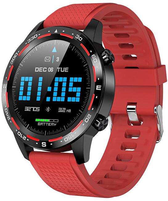 Wotchi W12B Smartwatch Red Silicone