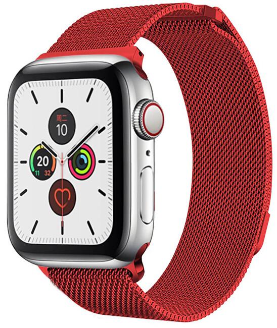 Wotchi Ocelový milánský tah pro Apple Watch - Červený 38/40 mm