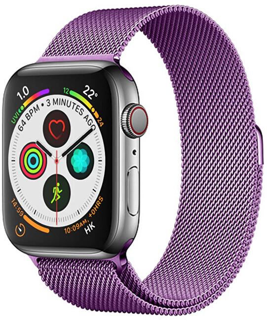 Wotchi Ocelový milánský tah pro Apple Watch - Fialový 42/44 mm