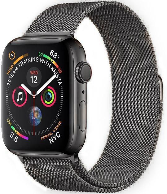 Wotchi Ocelový milánský tah pro Apple Watch - Grafitový 42/44 mm