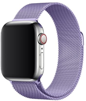 Wotchi Ocelový milánský tah pro Apple Watch - Levandulový 42/44 mm