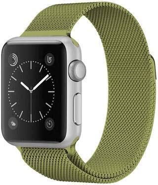 Wotchi Ocelový milánský tah pro Apple Watch - Limetkový 42/44 mm