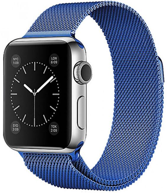 Wotchi Ocelový milánský tah pro Apple Watch - Modrý 42/44 mm