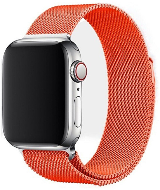 Wotchi Ocelový milánský tah pro Apple Watch - Oranžový 42/44 mm