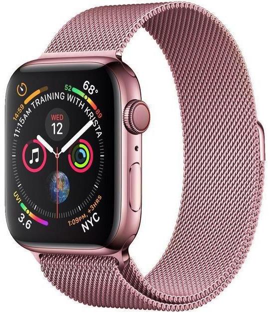 Wotchi Ocelový milánský tah pro Apple Watch - Růžový 38/40 mm