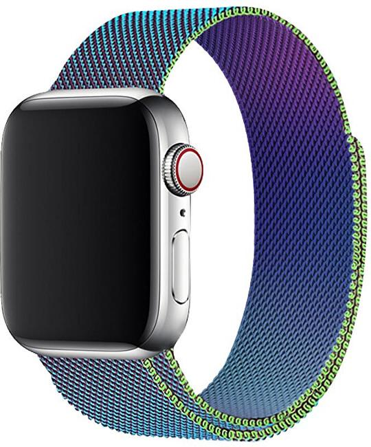 Wotchi Ocelový milánský tah pro Apple Watch - Vícebarevný 38/40 mm