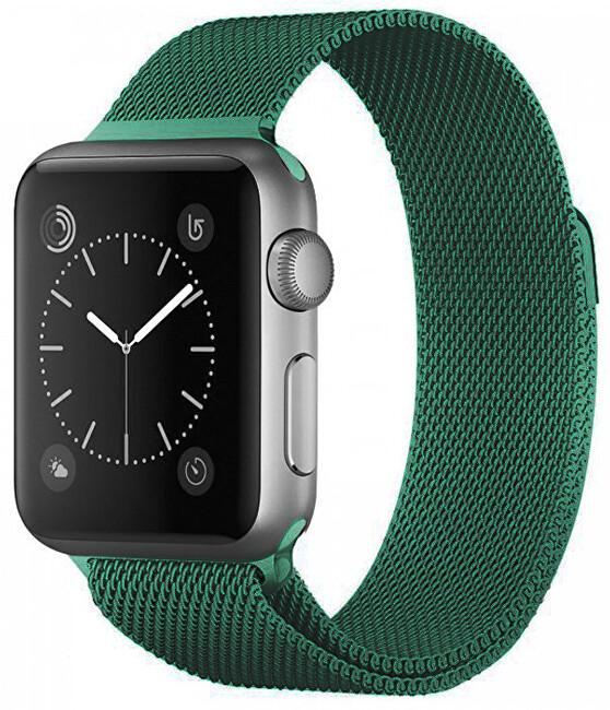 Wotchi Ocelový milánský tah pro Apple Watch - Zelený 38/40 mm