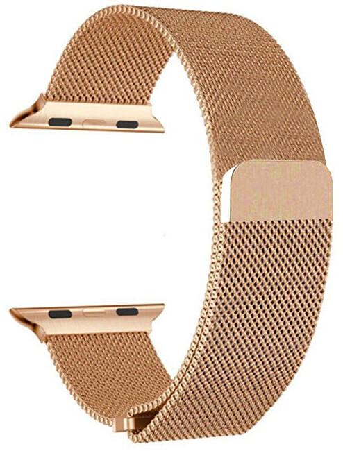 Wotchi Ocelový milánský tah pro Apple Watch - Růžové zlato 38/40 mm