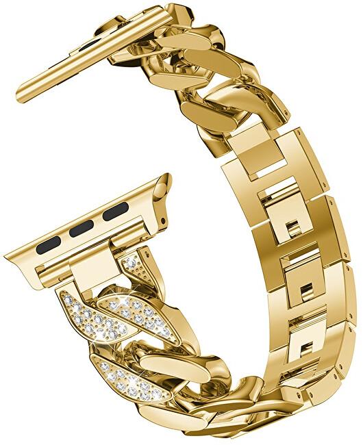 4wrist Ocelový tah Gold pro Apple Watch - 42/44 mm