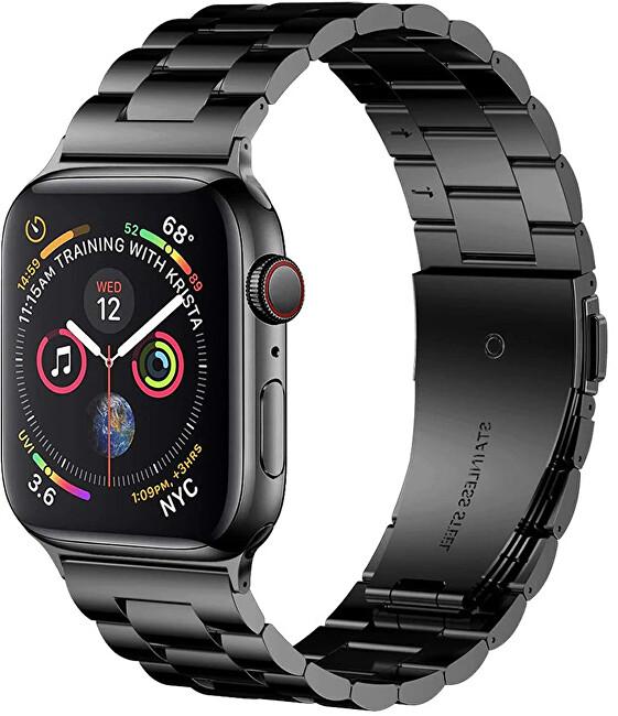 Wotchi Ocelový tah pro Apple Watch - Černý 42/44 mm