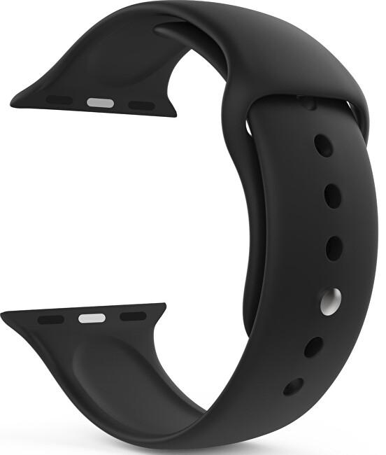 Wotchi Silikonový řemínek pro Apple Watch - Černý 38/40 mm - S/M