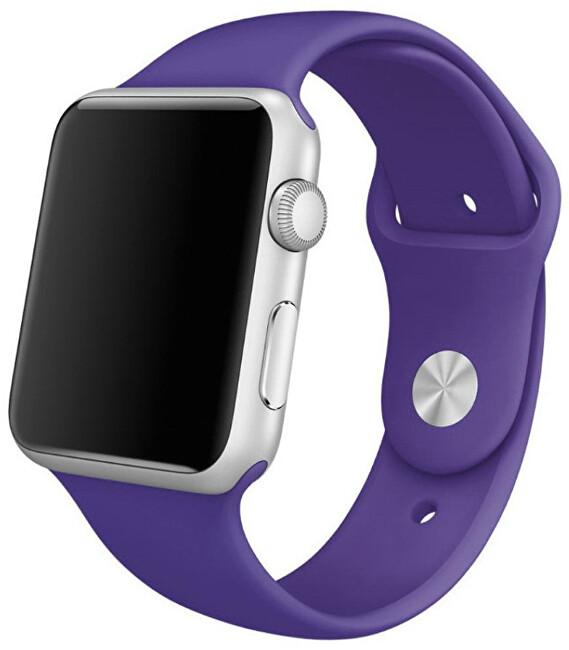 4wrist Silikonový řemínek pro Apple Watch - Fialová 38/40 mm - S/M