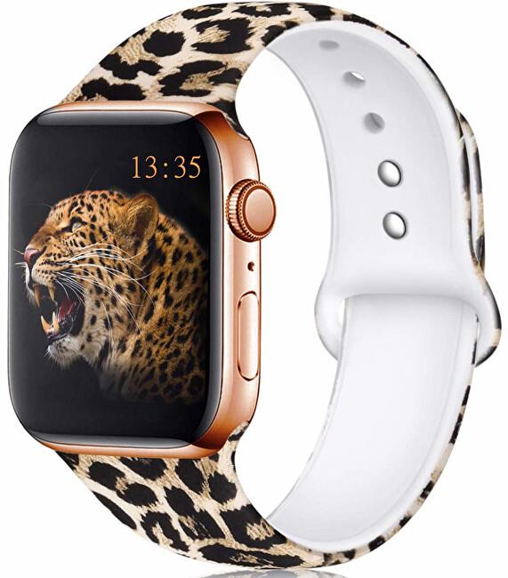 Wotchi Silikonový řemínek pro Apple Watch - Leopardí 42/44 mm