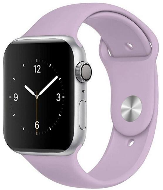 Wotchi Silikonový řemínek pro Apple Watch - Světle fialový 42/44 mm - S/M