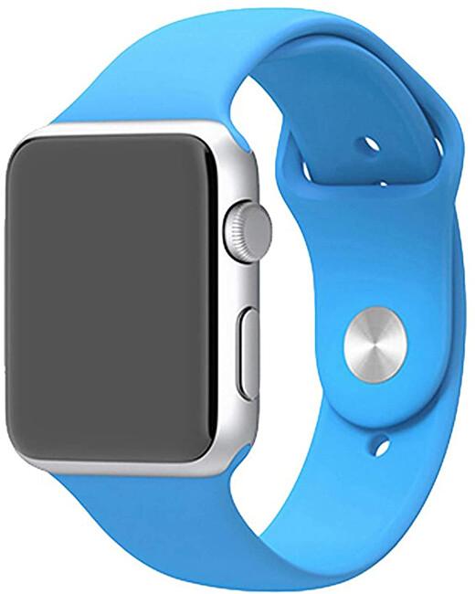 Wotchi Silikonový řemínek pro Apple Watch - Světle modrý 38/40 mm - S/M