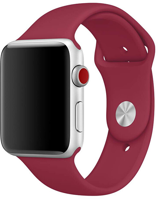 Wotchi Silikonový řemínek pro Apple Watch - Vínová 38/40 mm - S/M