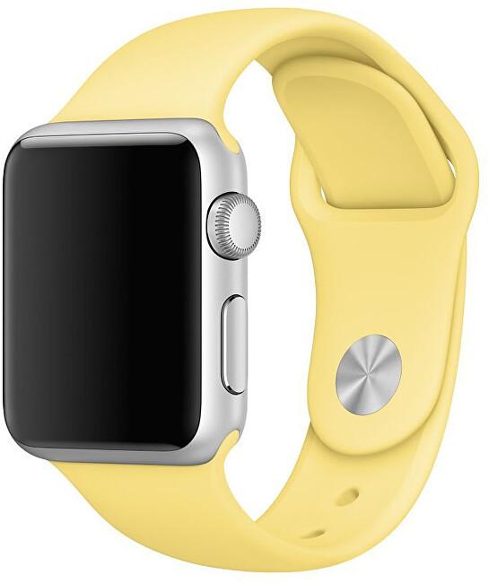 Wotchi Silikonový řemínek pro Apple Watch - Žlutá 38/40 mm - S/M