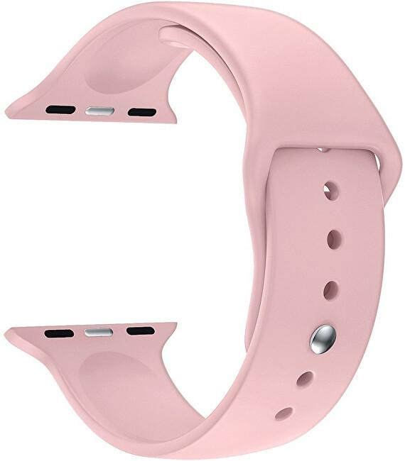 4wrist Silikonový řemínek pro Apple Watch - Růžový 38/40 mm - S/M