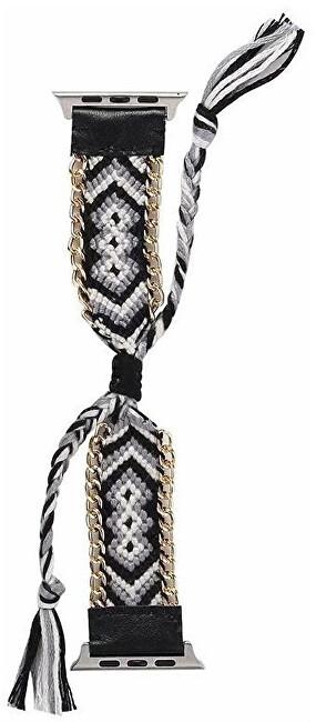 Wotchi Textilní řemínek pro Apple Watch - Černo-bílý 38/40 mm
