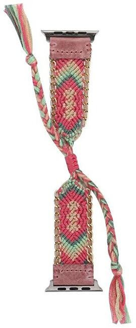 Wotchi Textilní řemínek pro Apple Watch - Růžový 42/44 mm