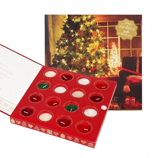 Albi Dárková sada 16 čajových svíček Vánoce