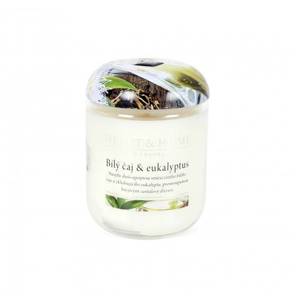 Albi Vonná svíčka střední Bílý čaj & eukalyptus 115 g