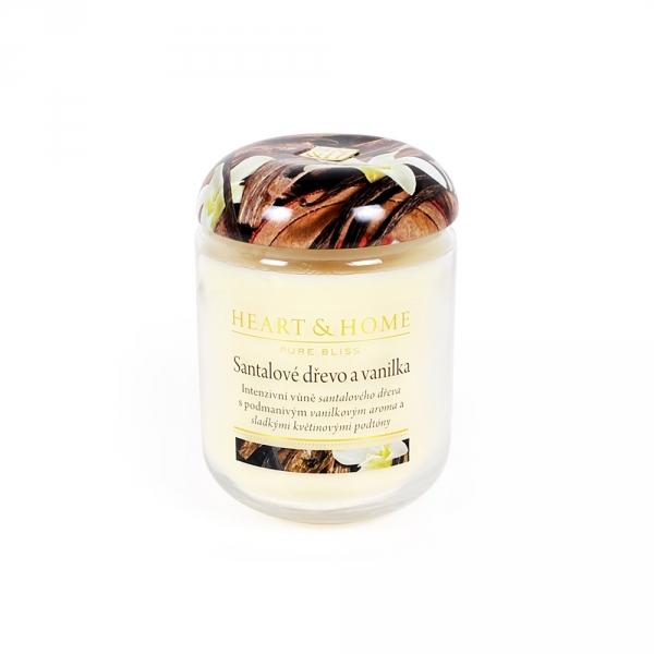 Albi Vonná svíčka střední Santalové dřevo a vanilka 115 g