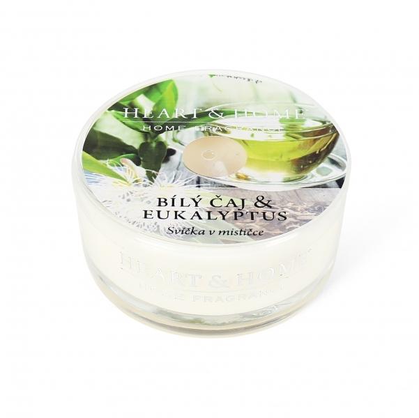 Albi Vonná svíčka v mističce Bílý čaj & eukalyptus 38 g