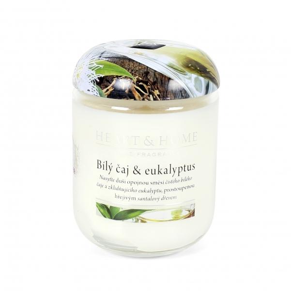 Albi Vonná svíčka velká Bílý čaj & eukalyptus 340 g