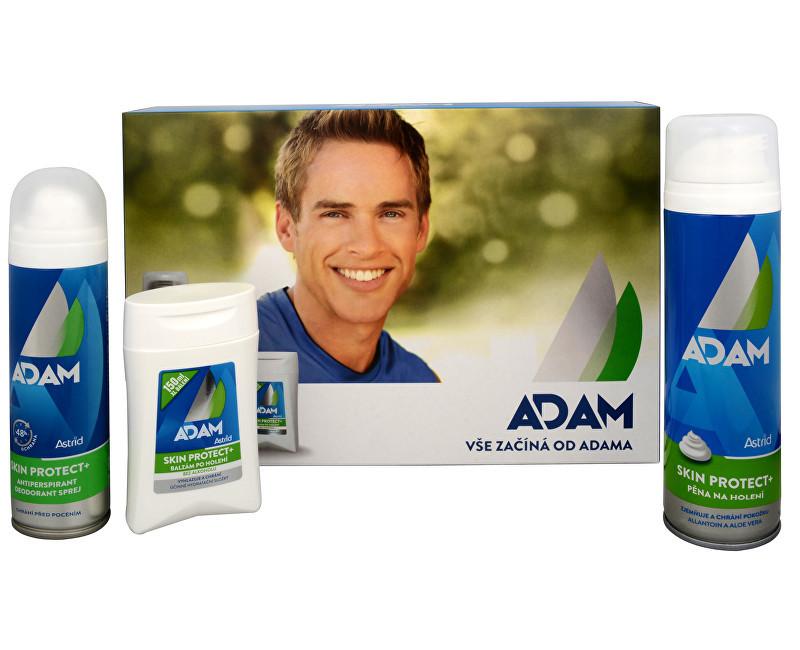 Astrid Adam Skin Protect+ balzám po holení 100 ml + pěna na holení 250 ml + antiperspirant sprej 150 ml dárková sada