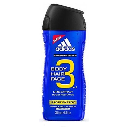 Fotografie Adidas Sport Energy sprchový gel 3v1 pro muže 250 ml