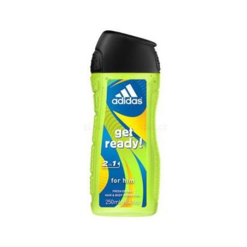 Adidas Sprchový gel pro muže na tělo i vlasy Get Ready! (Shower gel) 250 ml