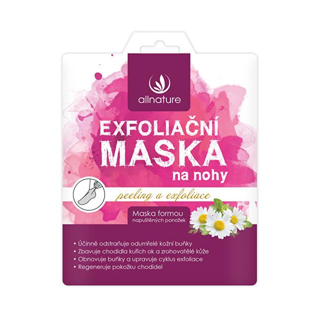 Allnature Exfoliační maska na nohy 40 ml