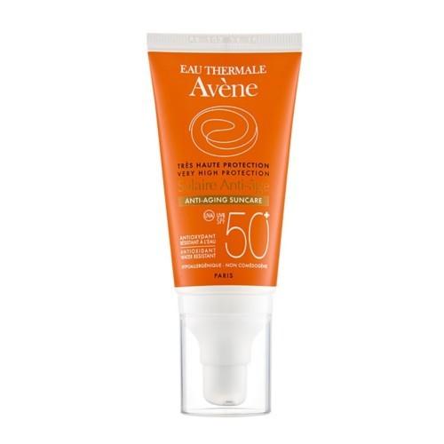 Avène Opalovací krém proti vráskám na citlivou pleť SPF 50+ (Anti-Aging Sun Care) 50 ml