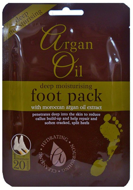 Xpel Argan Oil Deep Moisturising Foot Pack - Péče o nohy 1 ks