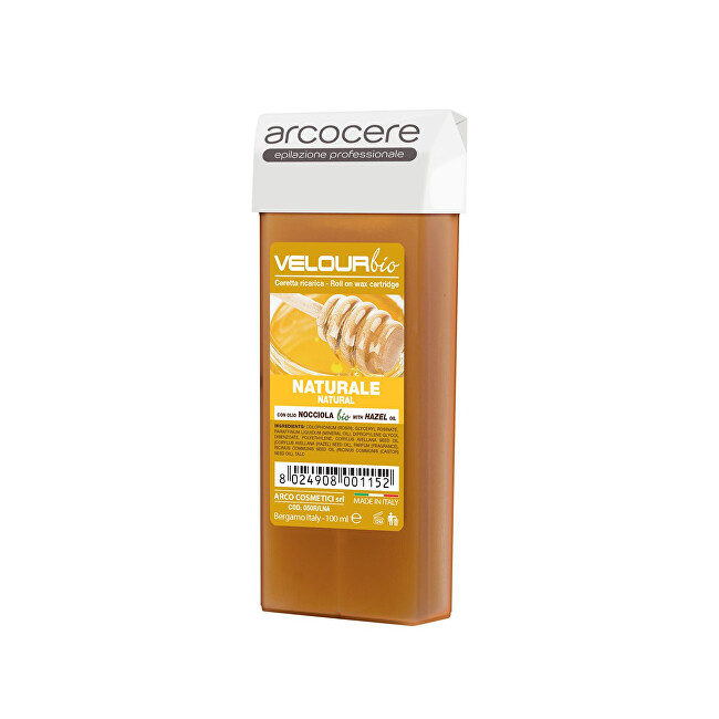 Arcocere Epilačný vosk Professional Wax Natura l Honey Bio (Roll-On Cartidge) 100 ml