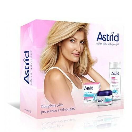 Astrid Aqua Time denní a noční krém 50 ml + micelární voda 200 ml dárková sada