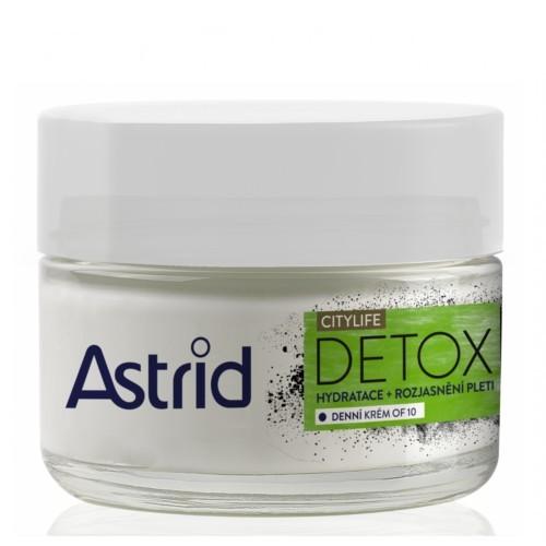 Astrid Hydratační rozjasňující denní krém OF10 Citylife Detox 50 ml