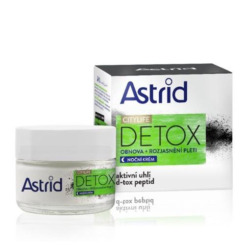 Astrid Obnovující rozjasňující noční krém  Citylife Detox 50 ml