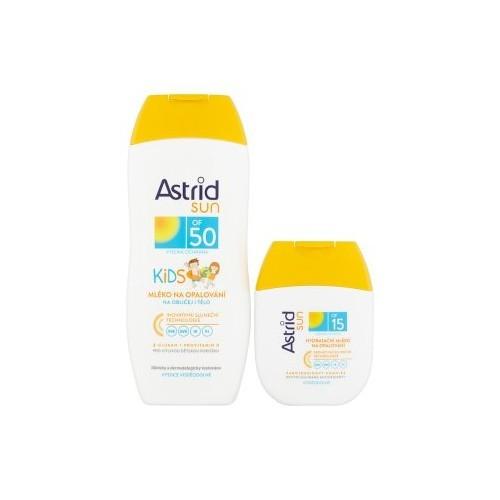 Astrid Sada na opalování Dětské mléko na opalování OF 50 200 ml + Hydratační mléko na opalování OF 15 80 ml