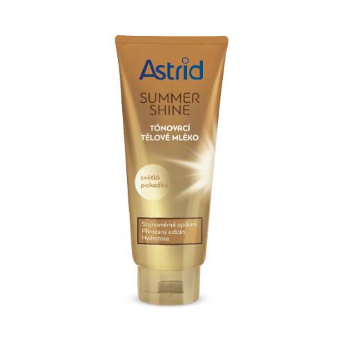 Astrid Tónovací tělové mléko pro světlou pokožku Summer Shine 200 ml