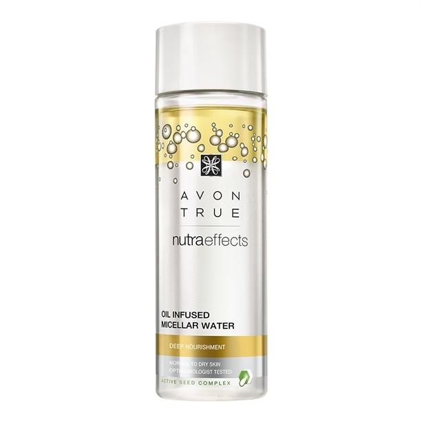 Avon Dvoufázová čisticí micelární voda s olejem Nutraeffects (Oil Infused Micellar Water ) 200 ml