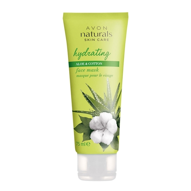 Avon Hydratačná pleťová maska s bavlnou a aloe vera Natura l s (Face Mask Hydration With Cotton And Aloe Vera ) 75 ml